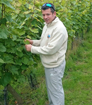 Neil on his vinegrowing course