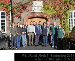 Pilot Rural Week 1, September 2014 in front of Plumpton College