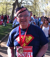David ran the London Marathon