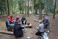 John during his Forest School session