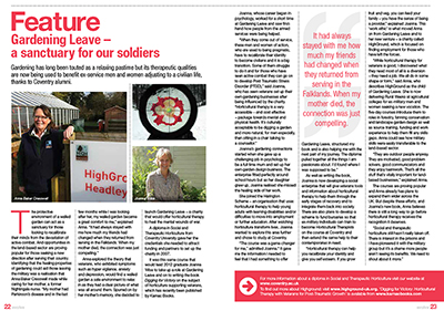 'Gardening Leave – a sanctuary for our soldiers'