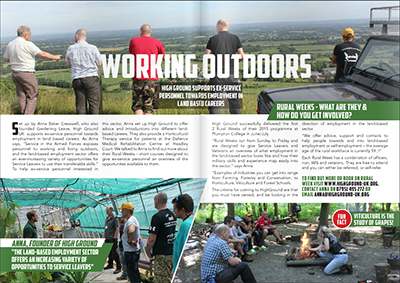 Working outdoors – HighGround supports ex service personnel towards employment in land-based careers'l
