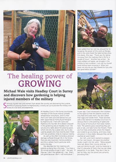 'The healing power of growing'