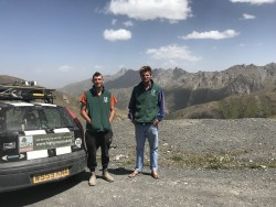 Nick and Seb Kyrgyzstan on Pamir Highway 2.