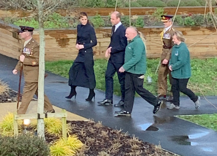 Andy and Jane in the walled garden with royals